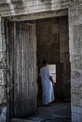 Photograph - Man In Doorway by Dave Hall
