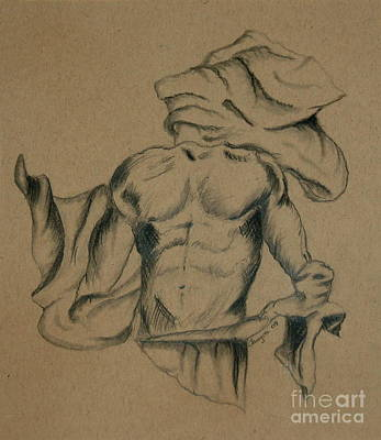 Drawing - Man In Robe by Tamyra Crossley