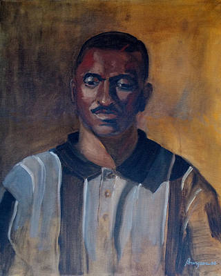 Negro Painting - Man In Stripes by Keith Burgess