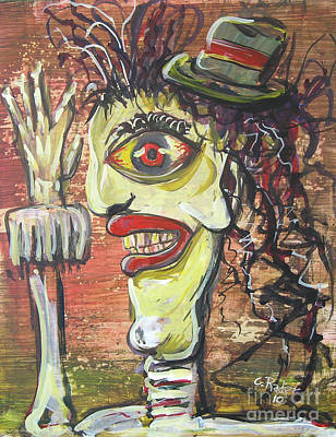Disfigure Painting - Man In The Hat by Gerald Rader