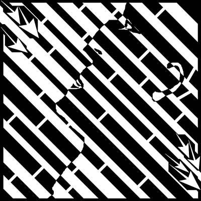 Man In The Madness Maze Art Print by Yonatan Frimer Maze Artist
