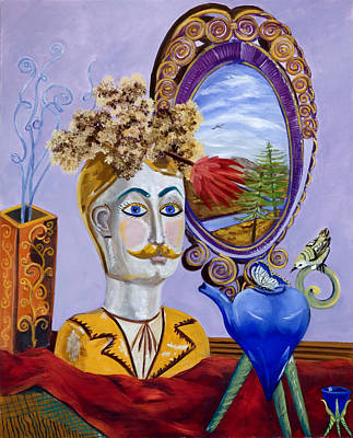 Painting - Man In The Mirror 2 by Susan Culver