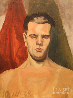 Man In Thought 1930s Print by Art By Tolpo Collection