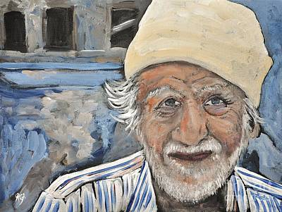 Painting - Man India by Reb Frost