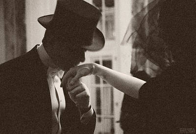 Chic Photograph - Man Kissing A Womans Hand by Beverly Brown
