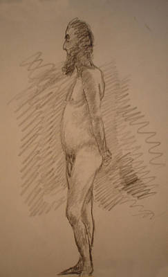 Natural Forces Drawing - Man Nude by Genio GgXpress