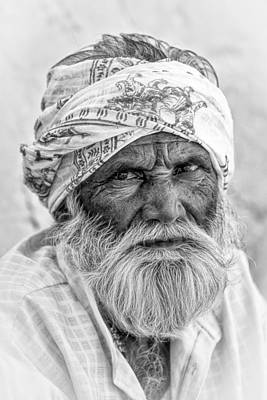 Photograph - Man Of Gujarat 2 by Brad Grove