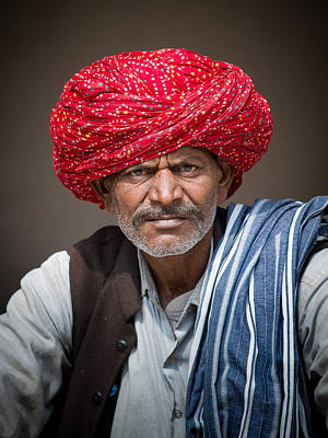 Photograph - Man Of Jaipur 3 by Brad Grove