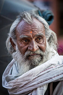 Photograph - Man Of Jaipur by Brad Grove