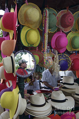 Photograph - Man Of Many Hats Mexico by John  Mitchell