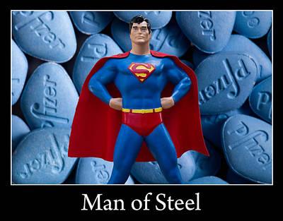 Man Of Steel Art Print by William Patrick