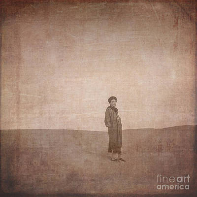 Alone Digital Art - Man On A Dune by Patricia Hofmeester