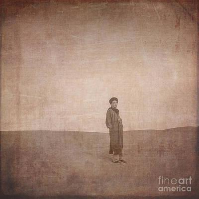 Digital Art - Man On A Dune by Patricia Hofmeester