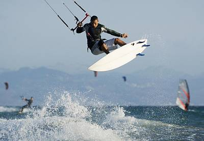 Other World Photograph - Man Parasurfing On Ocean by Ben Welsh