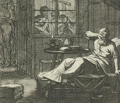 Man Perceives Through The Window Two Thieves Who Art Print