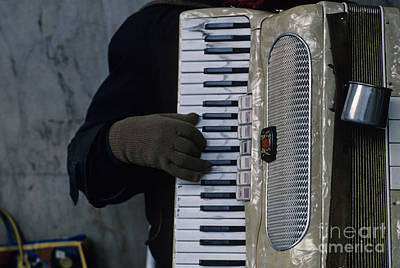 Photograph - Man Playing Accordion by Jim Corwin