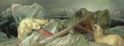 Crt Wall Art - Painting - Man Proposes, God Disposes, 1864 by Sir Edwin Landseer