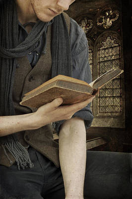 Photograph - Man Reading Book by Ethiriel  Photography