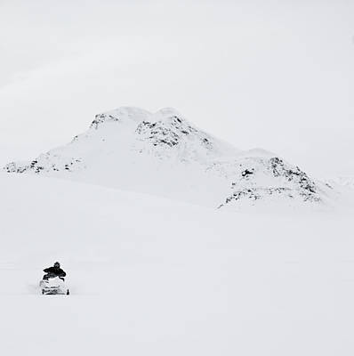 19a14e0518 Cold Front Wall Art - Photograph - Man Riding Snowmobil by Henn Photography