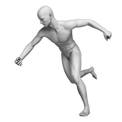 Man Running Art Print by Sebastian Kaulitzki