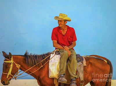 Photograph - Man Sitting On A Horse  by Patricia Hofmeester