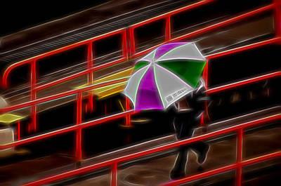 Photograph - Man Under Umbrella by Maria Coulson