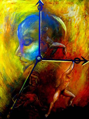 Painting - Man Vs Time by Dalgis Edelson
