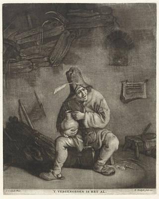 Man With A Beer Jug, Print Maker Dirk Koedijck Art Print