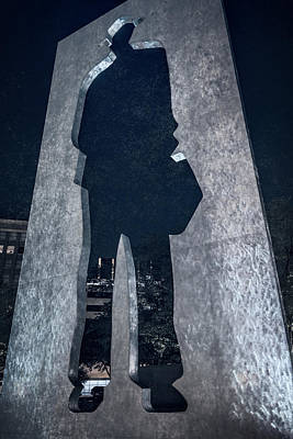 Contemporary Abstract Photograph - Man With A Briefcase by Joan Carroll
