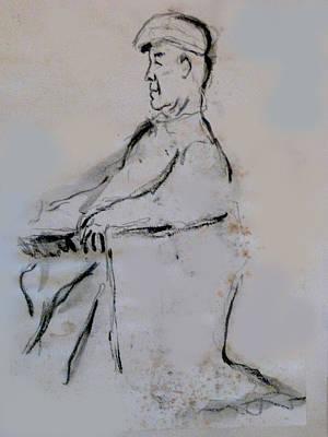 Man With A Cap Art Print