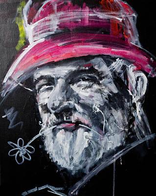 Man With A Flower Art Print