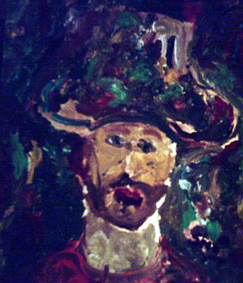 Painting - Man With A Hat by Shea Holliman