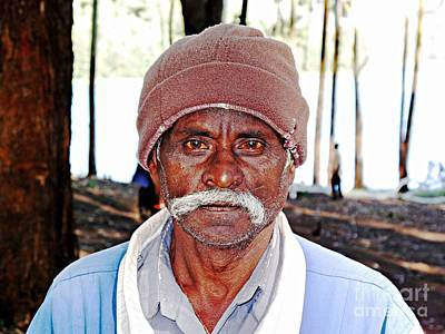 Photograph - Man With A Mustache by Ethna Gillespie