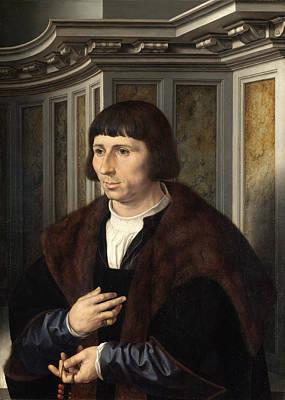 Man With A Rosary Art Print by Jan Gossaert