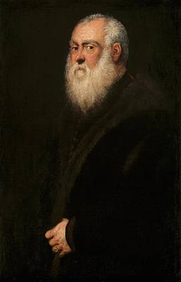 Old Man With Beard Painting - Man With A White Beard by Tintoretto