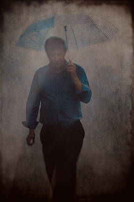 Eduardo Tavares Royalty-Free and Rights-Managed Images - Man With An Umbrella by Eduardo Tavares