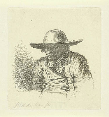 Man With Hat With Wide Brim, Anthonie Willem Hendrik Art Print
