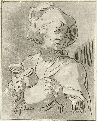 Man With Pitcher, Anthonie Van Den Bos, Abraham Bloemaert Art Print by Artokoloro