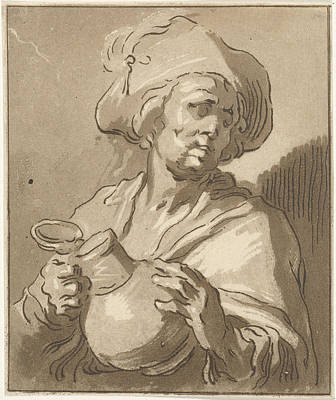 Pitcher Drawing - Man With Pitcher, Hermanus Fock by Artokoloro