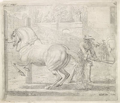 Maas Wall Art - Drawing - Man With Whip And A Horse, Dirk Maas by Quint Lox