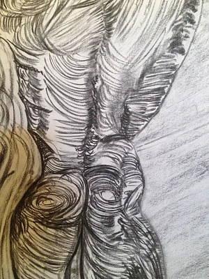 Gay Fantasy Drawing - Man Woman by Darren Zanolini