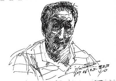 Sketch Drawing - man by Ylli Haruni