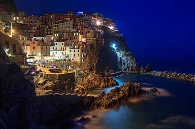 Photograph - Manarola At Night by Rick Starbuck