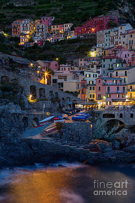Photograph - Manarola By Night by Michele Steffey