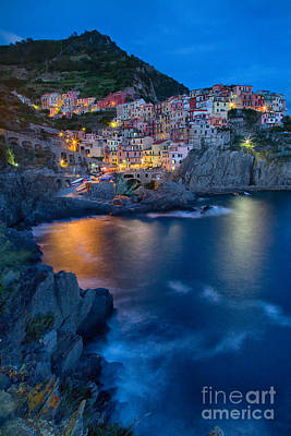 Photograph - Manarola By Twilight by Michele Steffey