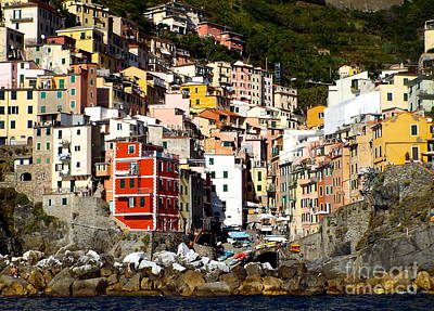 Photograph - Manarola by Carolyn Kami Loughlin