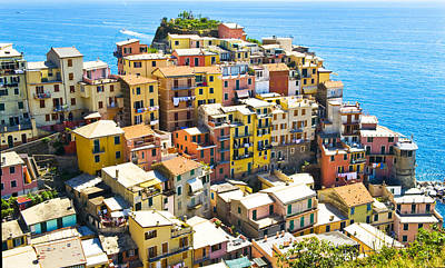 Photograph - Manarola Cinque Terre Italy Horizontal by Pam  Elliott