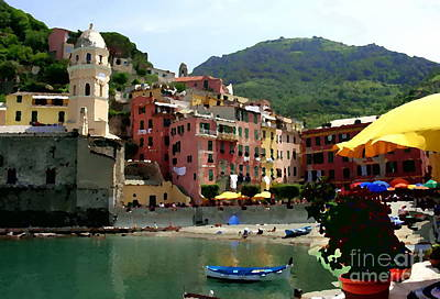 Photograph - Waterfront - Vernazza - Cinque Terre by Jacqueline M Lewis