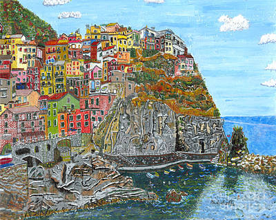 Painting - Manarola In Cinque Terra by Paul Fields