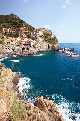 Manarola In The Cinque Terre Italy Art Print by Matteo Colombo